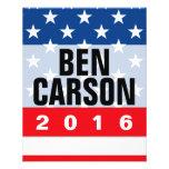 Ben Carson 2016 Political Conservative 11.5 Cm X 14 Cm Flyer