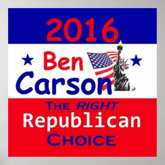 Ben CARSON 2016 Print
