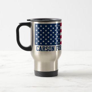 Ben Carson for President 2016 American Flag Stainless Steel Travel Mug