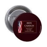 Ben Carson for President V3 6 Cm Round Badge