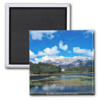 Ben Eishe and Loch Coulin Torridon Square Magnet