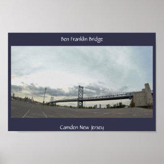 Ben Frankin Bridge Photo Poster