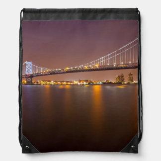 Ben Franklin Bridge Drawstring Bag