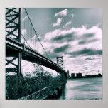 Ben Franklin bridge II Poster