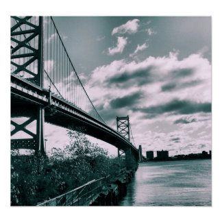 Ben Franklin bridge II Poster