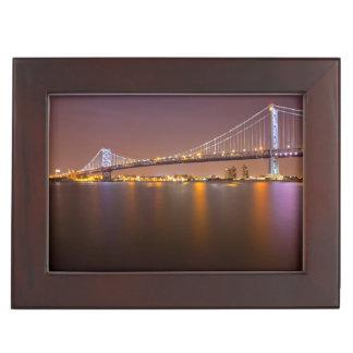 Ben Franklin Bridge Keepsake Box