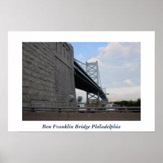 Ben Franklin Bridge Philadelphia Photo Poster