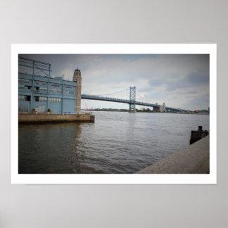 Ben Franklin Bridge Philadelphia Poster