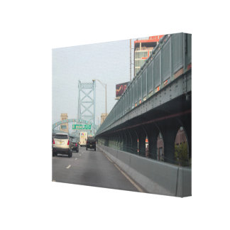 Ben Franklin Bridge Photo Canvas Print