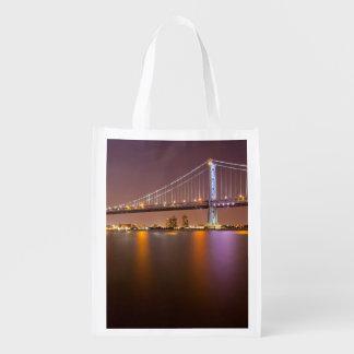 Ben Franklin Bridge Reusable Grocery Bag