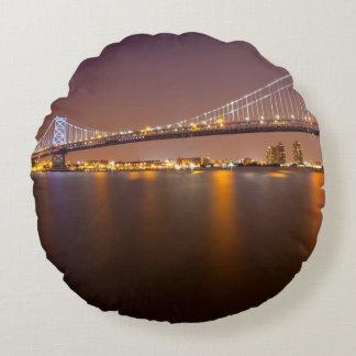 Ben Franklin Bridge Round Cushion