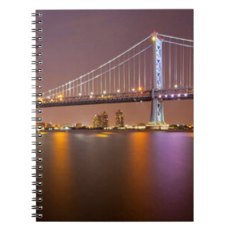 Ben Franklin Bridge Spiral Notebook