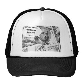 BEN FRANKLIN - GREAT EMPIRE QUOTE HATS