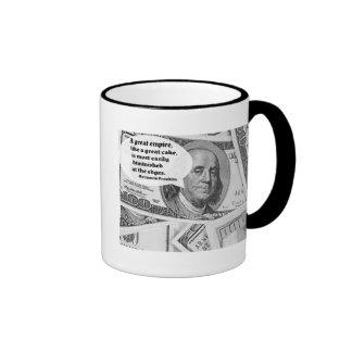 BEN FRANKLIN - GREAT EMPIRE QUOTE COFFEE MUG