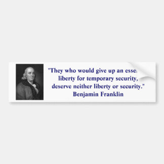 Ben Franklin Liberty Bumper Sticker