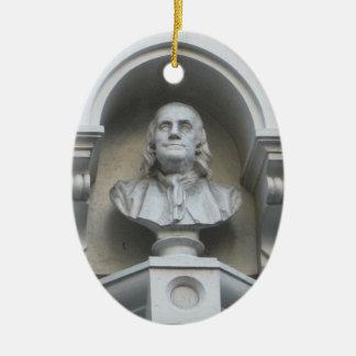 Ben Franklin Lived Here Ceramic Oval Decoration