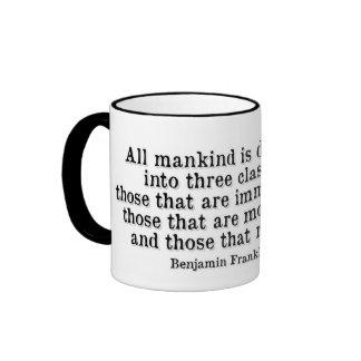 Ben Franklin- Mankind Ringer Mug