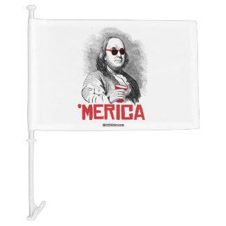 Ben Franklin 'Merican Party Car Flag