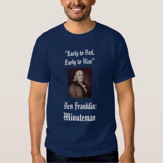 Ben Franklin, Minuteman Tee Shirt