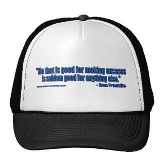 Ben Franklin - No excuses Mesh Hats