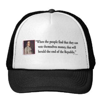 Ben Franklin on Democracy Mesh Hat