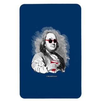 Ben Franklin Party Animal Rectangular Photo Magnet