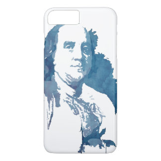 Ben Franklin Pop Art Portrait in Blue iPhone 7 Plus Case