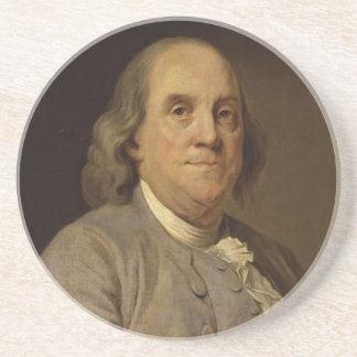 Ben Franklin Portrait Drink Coasters