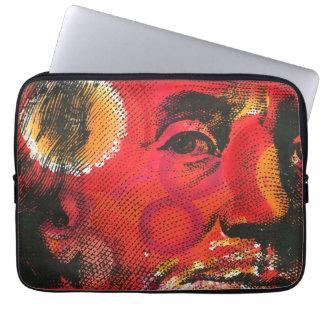 Ben Franklin Portrait- Painting & Silkscreen Laptop Sleeve