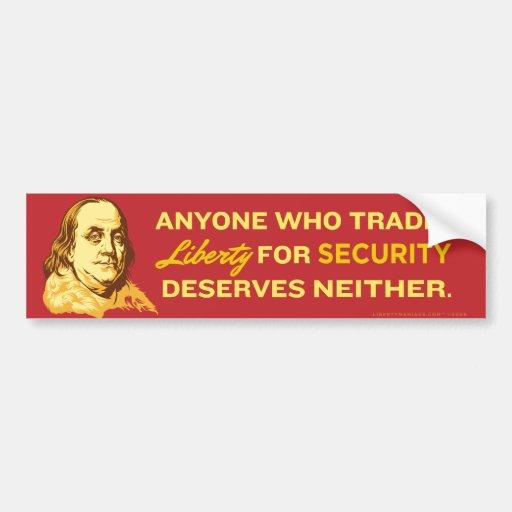 Ben Franklin Quote Bumper Sticker