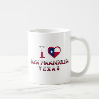 Ben Franklin, Texas Coffee Mugs