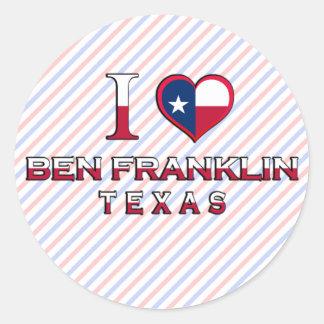 Ben Franklin, Texas Sticker