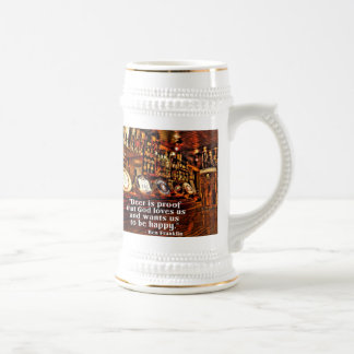 Ben Franklin's Famous Beer Quote Mugs