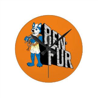 Ben-Fur Round Clock