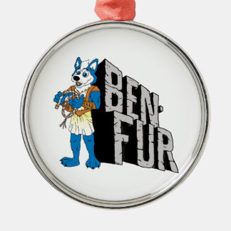 Ben-Fur Silver-Colored Round Decoration