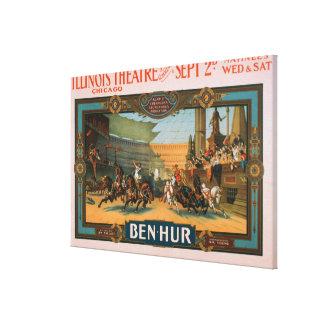Ben-Hur at Chicago's Illinois Theatre Poster Canvas Print