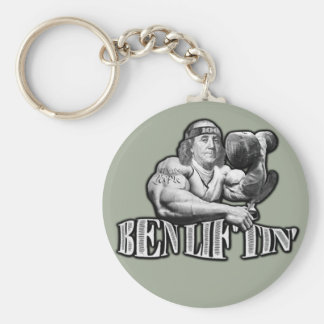 Ben Liftin Bodybuilding Ben Franklin Keychain
