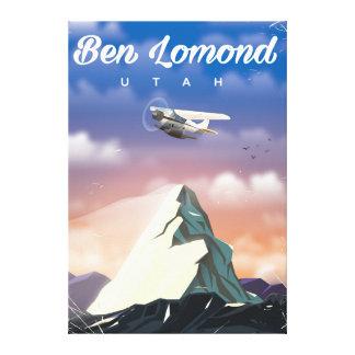 Ben Lomond,Utah travel poster Canvas Print