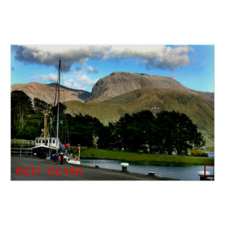 ben nevis from caledonian canal poster
