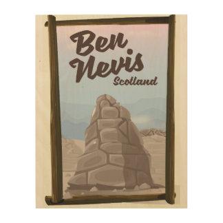 Ben Nevis Scotland travel poster