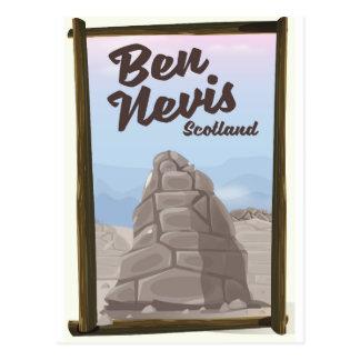 Ben Nevis Scotland travel poster Postcard