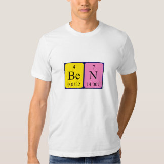 Ben periodic table name shirt