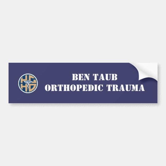 Ben Taub ortho bumper Bumper Sticker