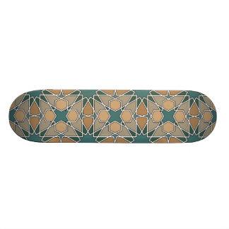 Ben Yusuf Madrasa Geometric Pattern 006 Custom Skate Board