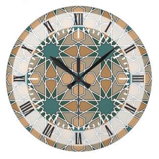 Ben Yusuf Madrasa Geometric Pattern 006 Large Clock