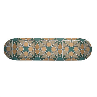 Ben Yusuf Madrasa Geometric Pattern 006 Skate Board Deck