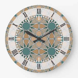 Ben Yusuf Madrasa Geometric Pattern 006 Wallclock