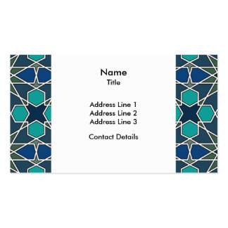 Ben Yusuf Madrasa Geometric Pattern 0-0-7 Pack Of Standard Business Cards