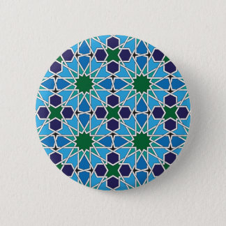 Ben Yusuf Madrasa Geometric Patterrn 10 6 Cm Round Badge
