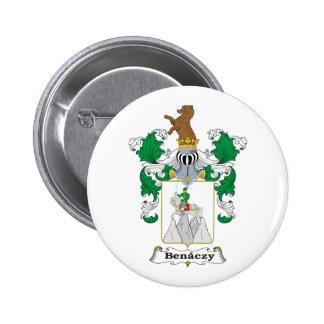 Benaczy Family Hungarian Coat of Arms 6 Cm Round Badge